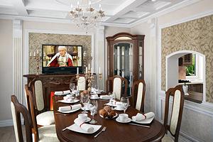 Кухня и столовая в загородном доме