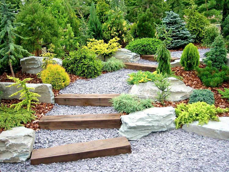 Тропинка, дорожка в саду. Ландшафтный дизайн